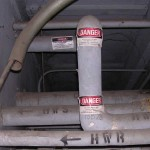 asbestos wrapped pipes